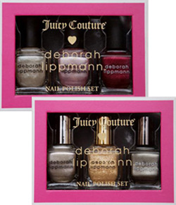 Juicy Couture and @DeborahLippmann team up this holiday to create limited edition gift sets featuring Juicy Couture exclusive nail polish shades.