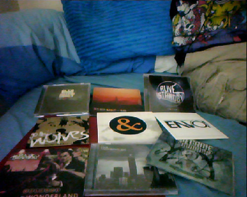 My CD collection lol. Too bad Of Mice & Faggots suck and WCAR's new CD is boring.