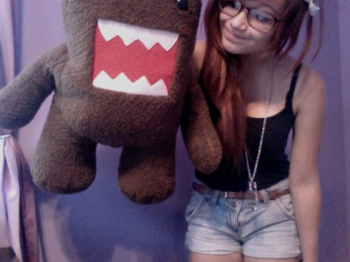 d0ntgo:  I look weird but I love my big ass domo i love it to<3