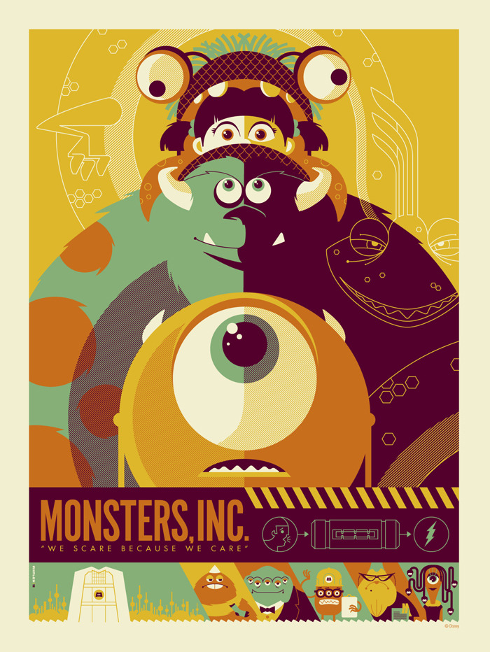 Cartel | Monsters Inc. | Está pocamadre! | Reblogged From >  hopeazul:  (via Mondo: The Blog)