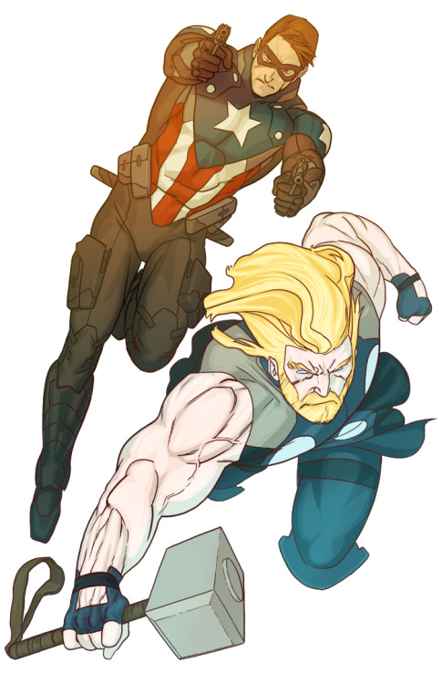 zmanm407:  Greatest redesigns of Bucky and Thor I've ever seen.By Enymy on Deviantart.   .