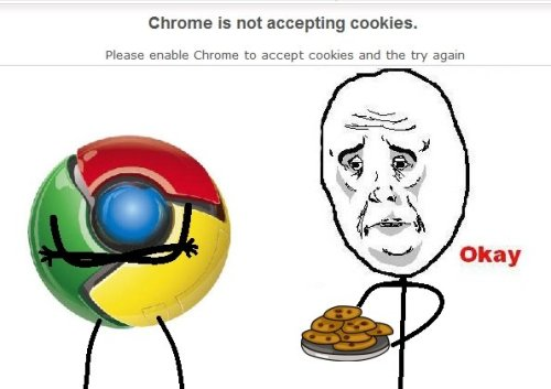 funny-pictures-uk:  Chrome is not accepting cookies!