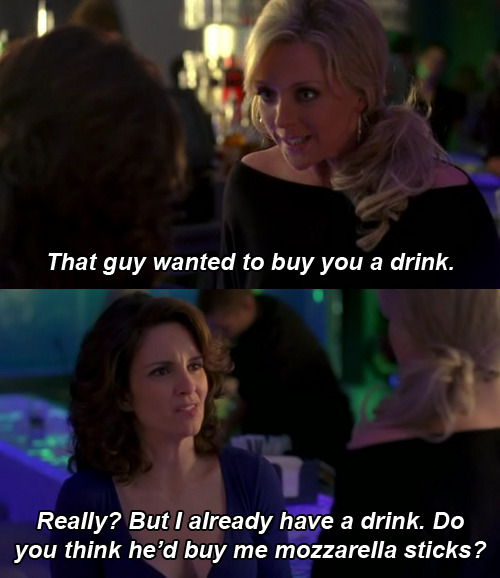 pumpkin-pasties:  Mozzarella Sticks  I love you, Tina Fey