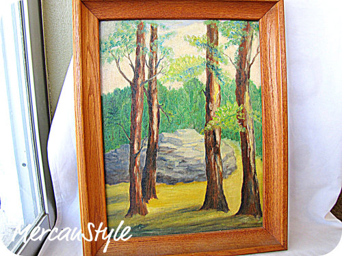 vintage forest oil painting relisted in my etsy shop http://www.etsy.com/listing/62028445/reduced-vintage-forest-oil-painting?ref=v1_other_2