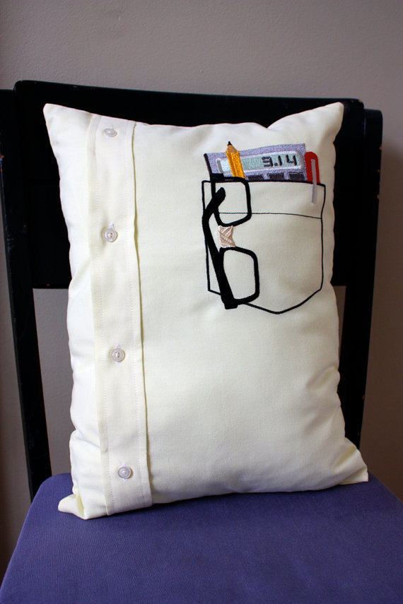 nerd pocket pillow.  by shopdirtsa