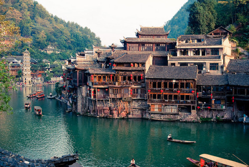 sunsurfer:  Ancient Town, Fenghuang, China  photo by yvesandre