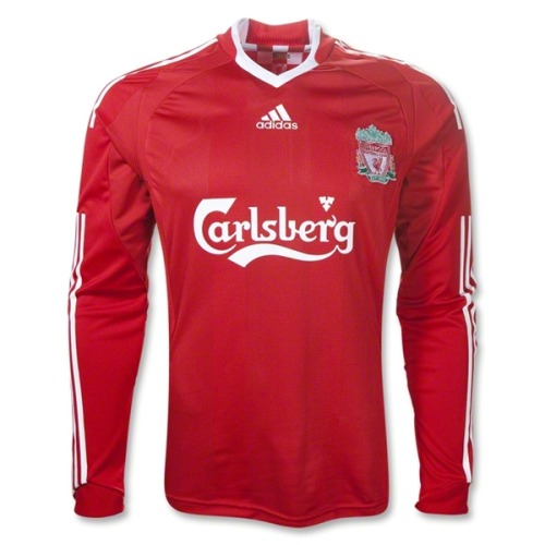 We miss seeing Carlsberg across the Liverpool kit. Steven Gerrard signed this 09-10 sick kit by Adidas and it's on sale - originally $649, now $499. - DJ