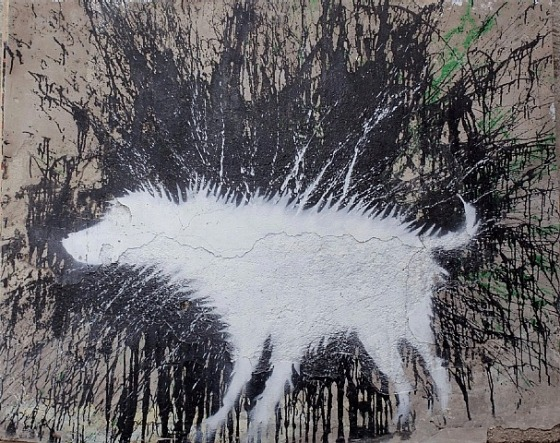 Wet Dog by Banksy