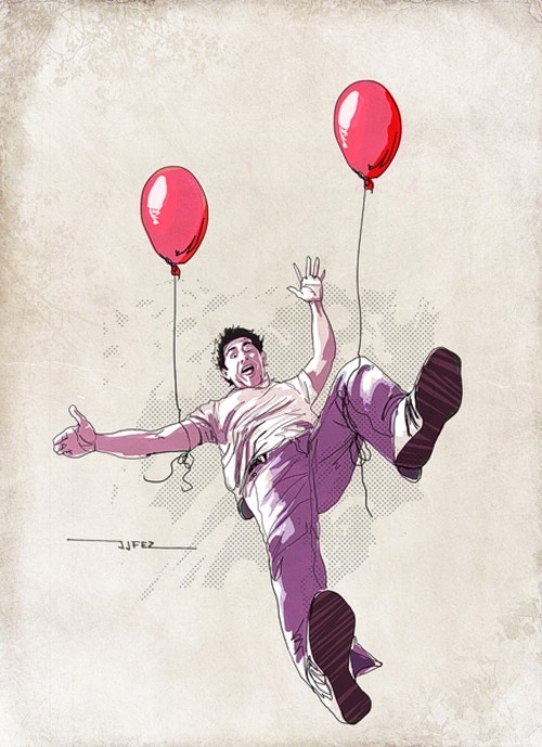 Balloons! illustration by J. Jesus Fernandez