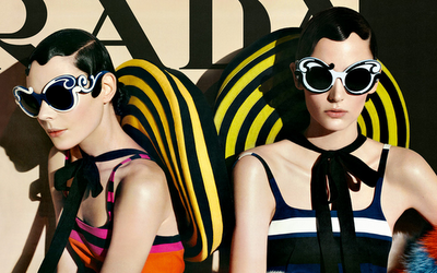 Those Colors by Number Prada SS 2011 ad campaign by Steven Meisel. Images from www.prada.com