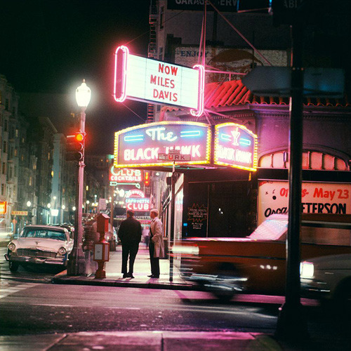 ckck:  The Black Hawk nightclub, San Francisco, California. Late April, 1961. Photograph by Leigh Wiener. A bonus left-over from last Friday.