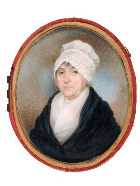 Mrs. Samuel Prioleau by Charles Fraser, 1820. Gibbes Museum of Art A very nice image of a 19th century cap