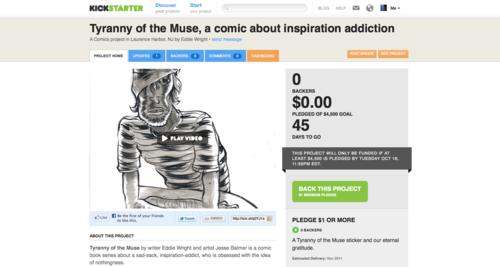 Tyranny of the Muse Kickstarter