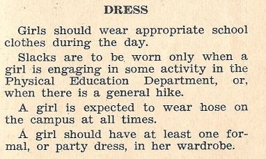 ~ Milligan College Handbook for Girls, 1937-1938
