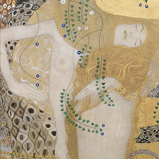 Water Serpents I (detail), Gustav Klimt.