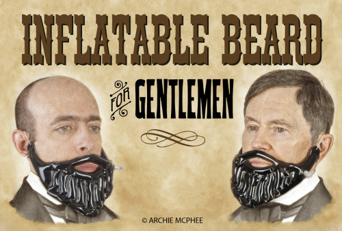 archiemcphee:  Inflatable Beard - Instant hope for the face bald!