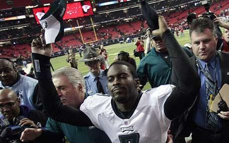 hiphopforbreakfast:  Mike Vick swaggin My Nigga playing for the home team wats good