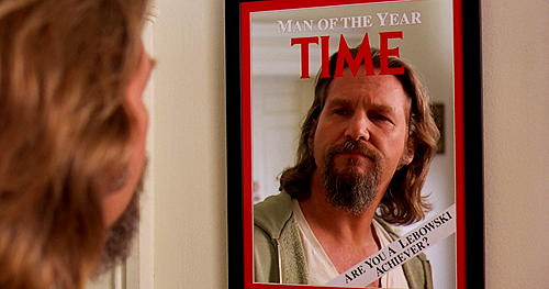 "Interesting Big Lebowski stats:  The word ""dude"" is used around 161 times in the  movie. 160 spoken and once in text in the credits for ""Gutterballs"" the  second dream sequence.   The word ""fuck"" or a variation of the word ""fuck"" is used 292 times.  The Dude says ""man"" 147 times in the movie, nearly 1.5 times a minute."