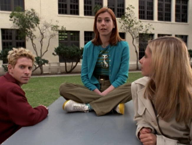 willow, your shirt, your cardigan, your shoes. i love you. although the khakis and the belt i'm not sure that i understand as much.