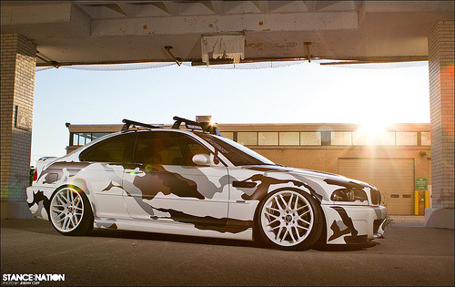 automotivated:  Arctic-Camo e46 BMW M3 (by jeremycliff)