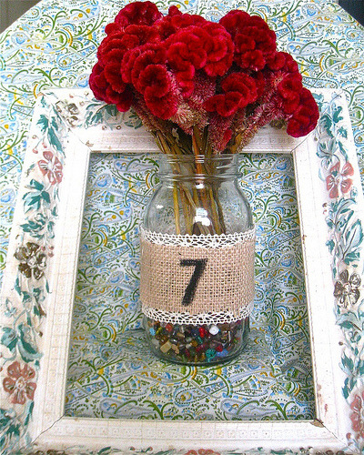 bridalsnob:  Wedding + Lace Wedding table number