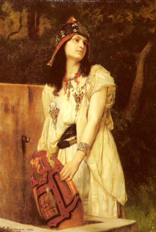 jaded-mandarin:  Gustave Clarence Rodolphe Boulanger :: A Woman with an Urn