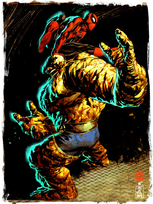 dreamlabs:  by Nic Klein   Spider-Man & The Thing