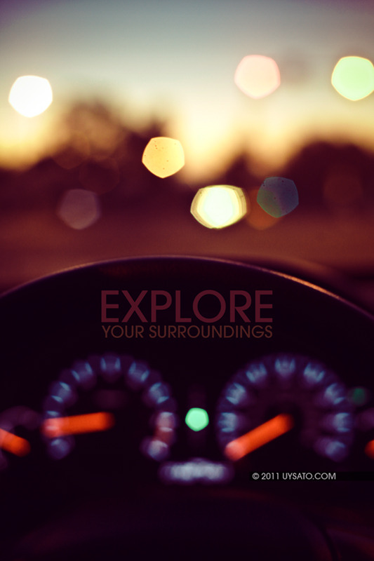 """Explore your surroundings"" v2"