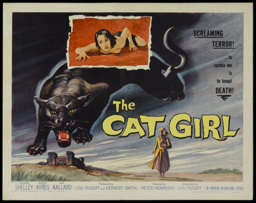 Half sheet for The Cat Girl (1957)