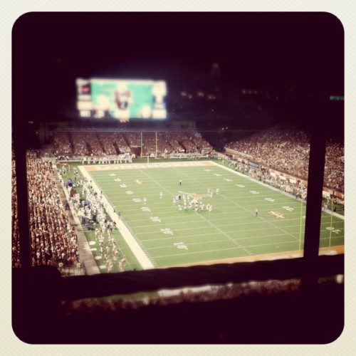 First UT Game of the Season (Taken with Instagram at Darrell K Royal Texas Memorial Stadium)