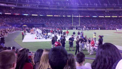Oh you know, just chilling in the student section 20 feet from the field while we dominate Cal Poly… nbd.