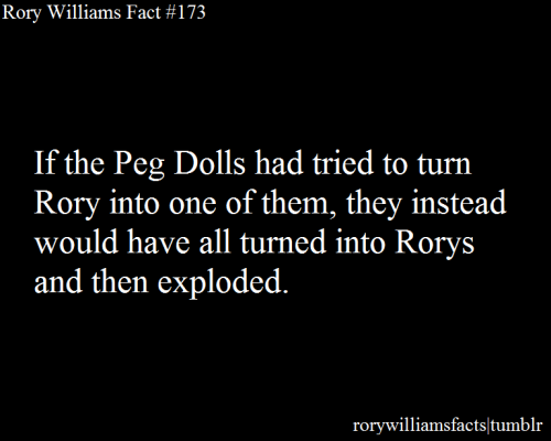 rorywilliamsfacts:  Submitted by anonymous.