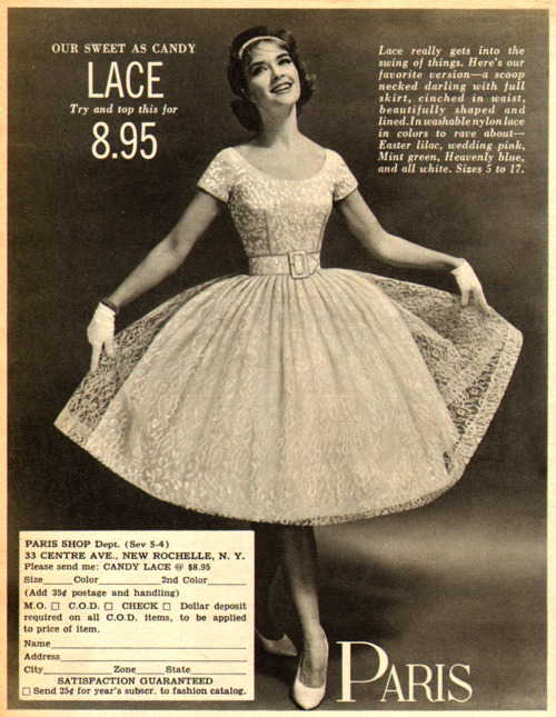 Paris Shop lace dress, 1960