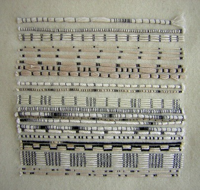 sweetpeapath:  collected lines by Roanna Wells stitched lines, mixed threads