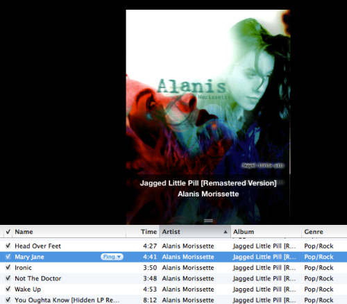 Ending the night with Alanis Morissette & Mary Jane.