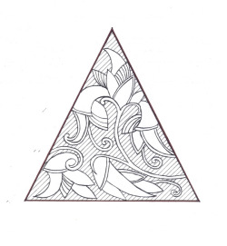 """Indo-Triangle"" - pen on moleskine"