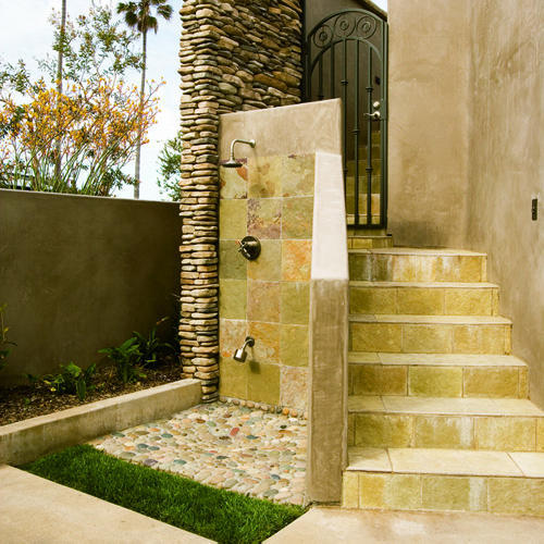 ever watch house hunters international? they love outdoor showers! www.padstyle.com/