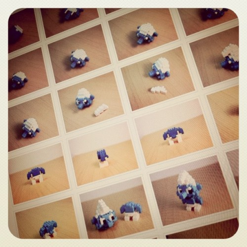 Nanoblock Smurfs Build Instructions at http://tiny.cc/nanosmurf …