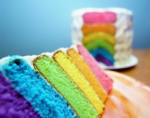 I really want to make a rainbow cake.