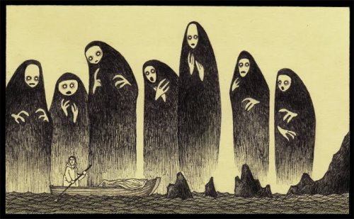 Artist John Kenn is behind these post-it note, monster sketches. Each character he has created has a soul to it, and it's surprising to find that he isn't an artist for a living. Not much is known about John Kenn except that he is a writer and director for children's shows and has also recently designed and directed Fallulah's new music video for Out of It. You can view the video here.
