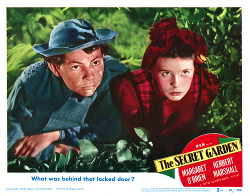 "Here is a Lobby Card from MGM's The Secret Garden (1949),  starring Margaret O'Brien. Lobby Cards were 11"" x 14"" posters that came  in sets of 8. As the name implies, they were most often displayed in  movie theater lobbies, to advertise current or coming attractions.- Turner Classic Movies Archive"
