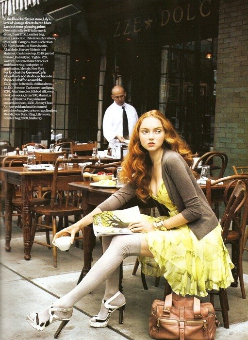 onlythininmydreams:  Lily Cole - Vogue UK  She looks absolutely beautiful!!