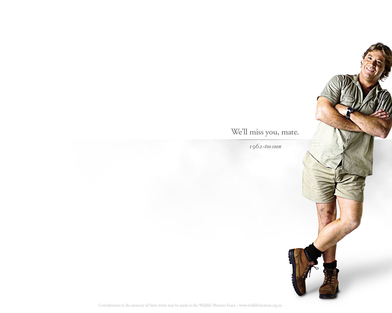 "anoceanactivist:  R.I.P. Stephen Robert ""Steve"" Irwin (February 22, 1962 - September 4, 2006) ""Born a wildlife warrior, die a wildlife warrior.""  What a brilliant man."