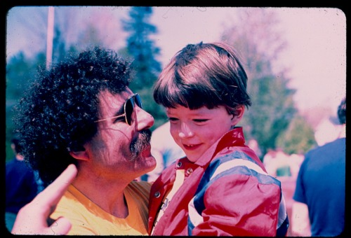 This is me and my father. Has to be about 1980, or even earlier…Oh, and yes, my father still has that mustache. Never known him without it.
