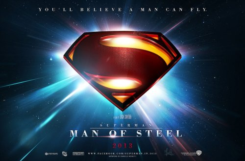 ericscroggs:  Another awesome fan-made poster for Man of Steel.