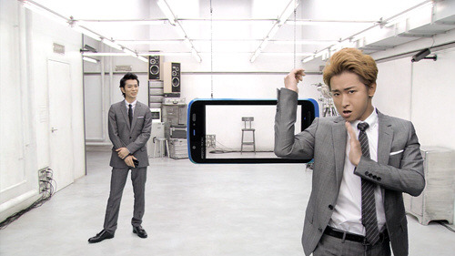 au by KDDI - AQUOS PHONE IS12SH ''3D ~ Jump out leader'' by Arashi