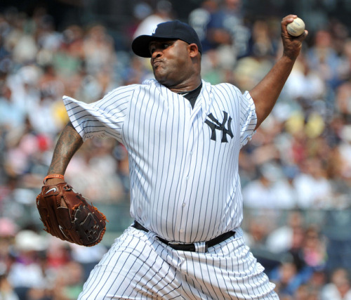 nyypinstripes:  Outstanding performance by C.C. Sabathia - 7.1 IP 2 ER 1 BB & 10 SO. That's how it should be done.
