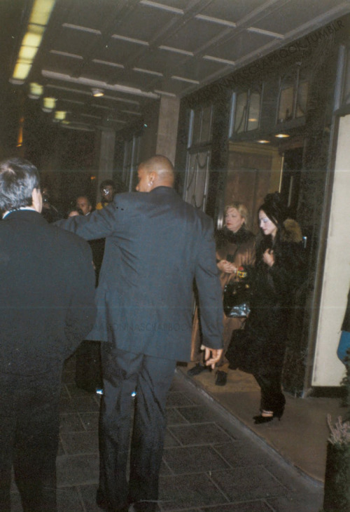 Madonna leaving Hotel in Frozen Wig