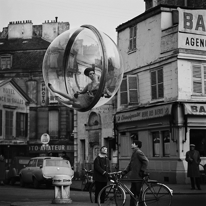 Bicycle Street by Melvin Sokolsky, Paris, 1963.