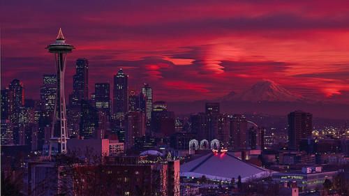 coffeenuts:  Evening Apocalypse - Seattle, WA by Bryan Swan on Flickr.